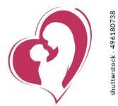 happy mother's day. motherhood... | Shutterstock .eps vector #496180738