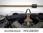 Vintage Typewriter With ' Once...
