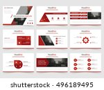 red abstract presentation... | Shutterstock .eps vector #496189495