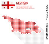dot style of georgia map and... | Shutterstock .eps vector #496195222