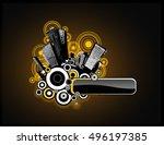 dark cityscape illustration... | Shutterstock .eps vector #496197385