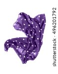 purple crumpled silk kerchief...   Shutterstock . vector #496201792