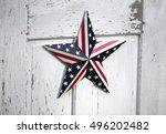 united states patriotic star... | Shutterstock . vector #496202482