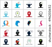 mind icons set   isolated on... | Shutterstock .eps vector #496203652