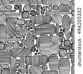 Hand Drawn Vector Stones Pattern