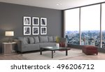 interior with sofa. 3d... | Shutterstock . vector #496206712