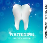 tooth whitening logo air flow... | Shutterstock .eps vector #496207132