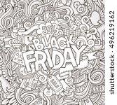 cartoon cute doodles hand drawn ... | Shutterstock .eps vector #496219162