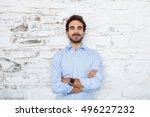 portrait of a young businessman ... | Shutterstock . vector #496227232