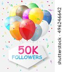 milestone 50000 followers.... | Shutterstock .eps vector #496246642
