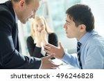 disagreed employee | Shutterstock . vector #496246828