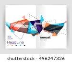 business triangle design modern ... | Shutterstock .eps vector #496247326