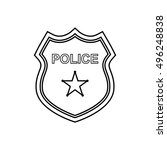 police badge outline icon on... | Shutterstock .eps vector #496248838