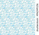 Seamless Pattern With Icons Of...