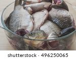fish crucian prepared for... | Shutterstock . vector #496250065