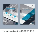abstract a4 brochure cover...   Shutterstock .eps vector #496251115