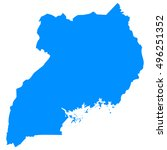 high detailed blue vector map   ... | Shutterstock .eps vector #496251352