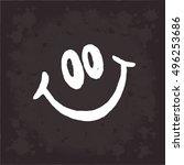 Smile On Black Background....