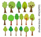 vector trees collection | Shutterstock .eps vector #49626901