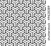 seamless geometric black and... | Shutterstock .eps vector #49628389