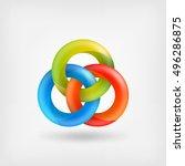 three abstract interlocking... | Shutterstock .eps vector #496286875