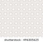 seamless geometric line pattern ... | Shutterstock .eps vector #496305625