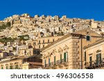 Small photo of View of town Modica, Cicily, Italy