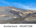Small photo of Landscape of Etna volcano, Cicily, Italy