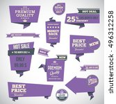set of retro product... | Shutterstock .eps vector #496312258