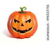 halloween pumpkin jack o... | Shutterstock . vector #496315756