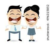 funny asian business team | Shutterstock .eps vector #496315852