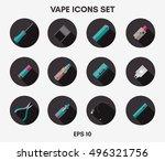 vape icons set on a white...   Shutterstock .eps vector #496321756