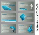 abstract vector business blue... | Shutterstock .eps vector #496325668