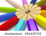 3d rendering of some color... | Shutterstock . vector #496335742