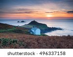 Sunset Over Cape Cornwall Near...