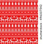 new year's christmas pattern... | Shutterstock .eps vector #496337542