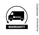 warranty delivery icon  vector...   Shutterstock .eps vector #496338922