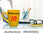 febryary 10th. day 10 of month  ... | Shutterstock . vector #496345852