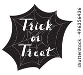 halloween poster with text... | Shutterstock .eps vector #496356436
