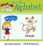 flashcard letter m is for mouse ...