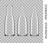 transparent white empty glass... | Shutterstock .eps vector #496358422