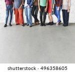 girls friendship togetherness... | Shutterstock . vector #496358605
