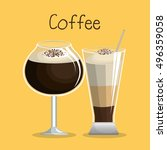 delicious coffee iced beverage | Shutterstock .eps vector #496359058