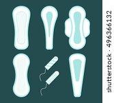 women hygiene pads set of... | Shutterstock .eps vector #496366132