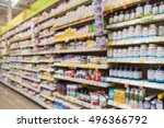 blurred image of vitamin store...   Shutterstock . vector #496366792