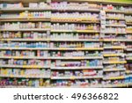 blurred image of vitamin store... | Shutterstock . vector #496366822