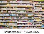 blurred image of vitamin store... | Shutterstock . vector #496366822