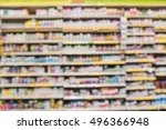 blurred image of vitamin store... | Shutterstock . vector #496366948