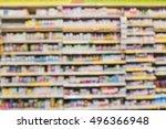 blurred image of vitamin store... | Shutterstock . vector #496366948