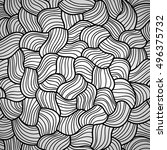seamless abstract wavy pattern. ... | Shutterstock .eps vector #496375732